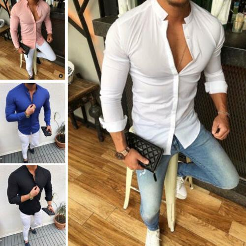 Men's Slim V Neck Tops