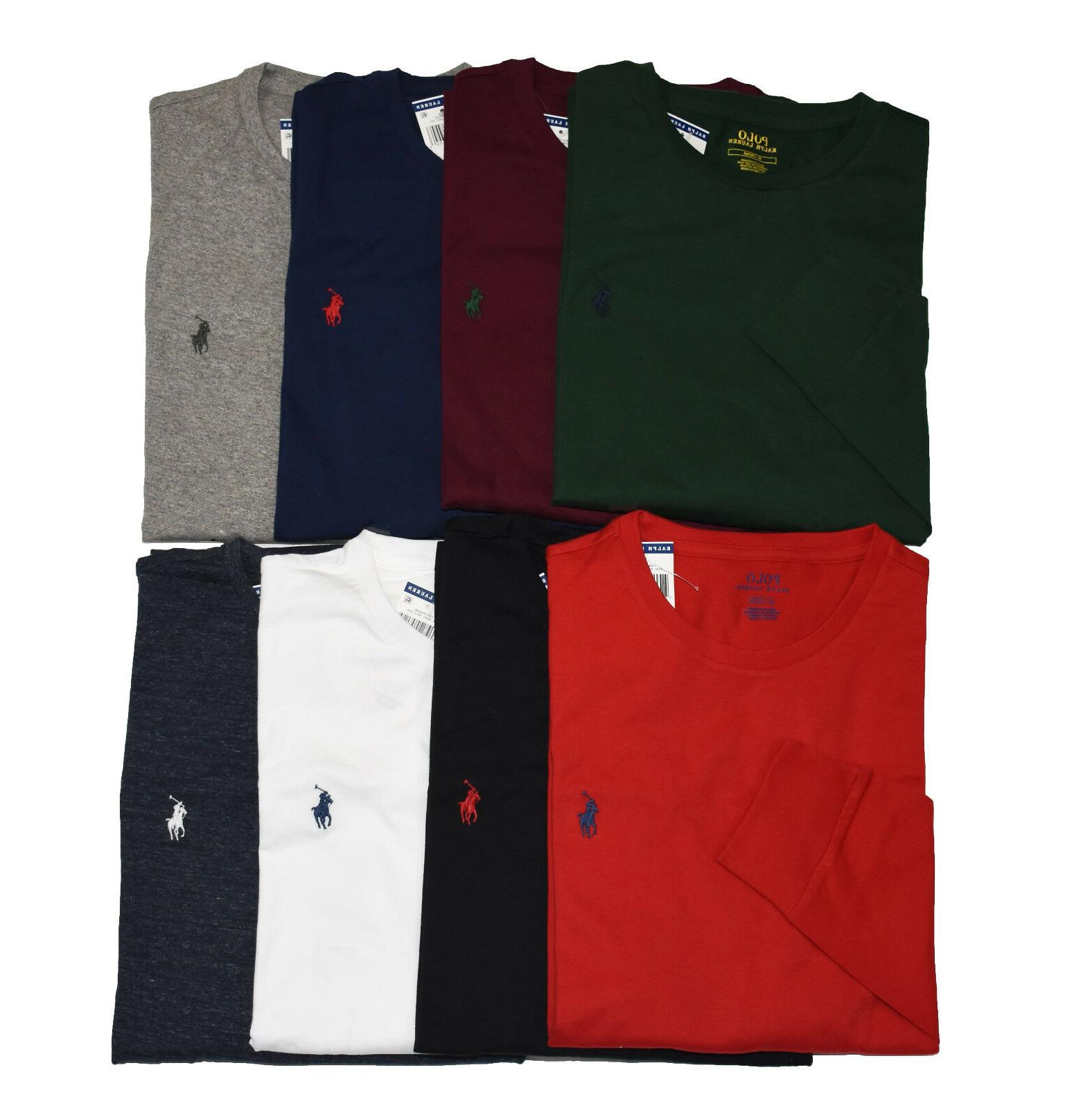 Men Polo Ralph Lauren LONG SLEEVE Crew Neck T Shirt S M L XL