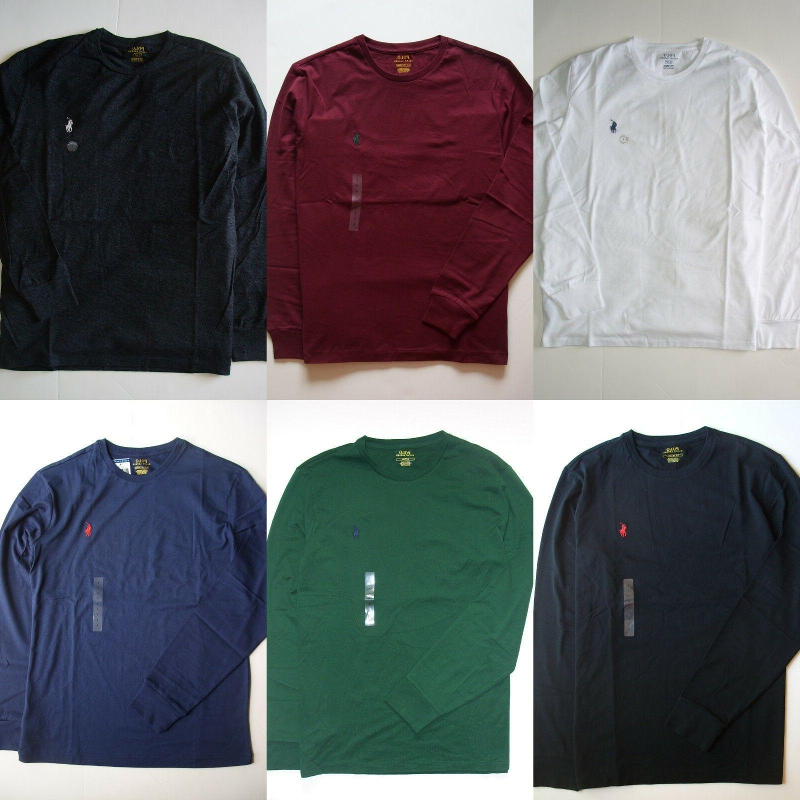 Men Polo Ralph Lauren T Shirt LONG SLEEVE S M L XL XXL - STA