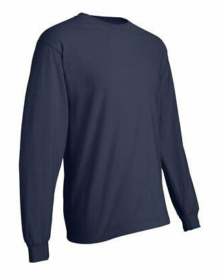 Hanes Mens Cotton Beefy-T Long Sleeve 3XL