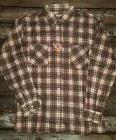 Mens Dickies long sleeve button up plaid Medium New With Tag