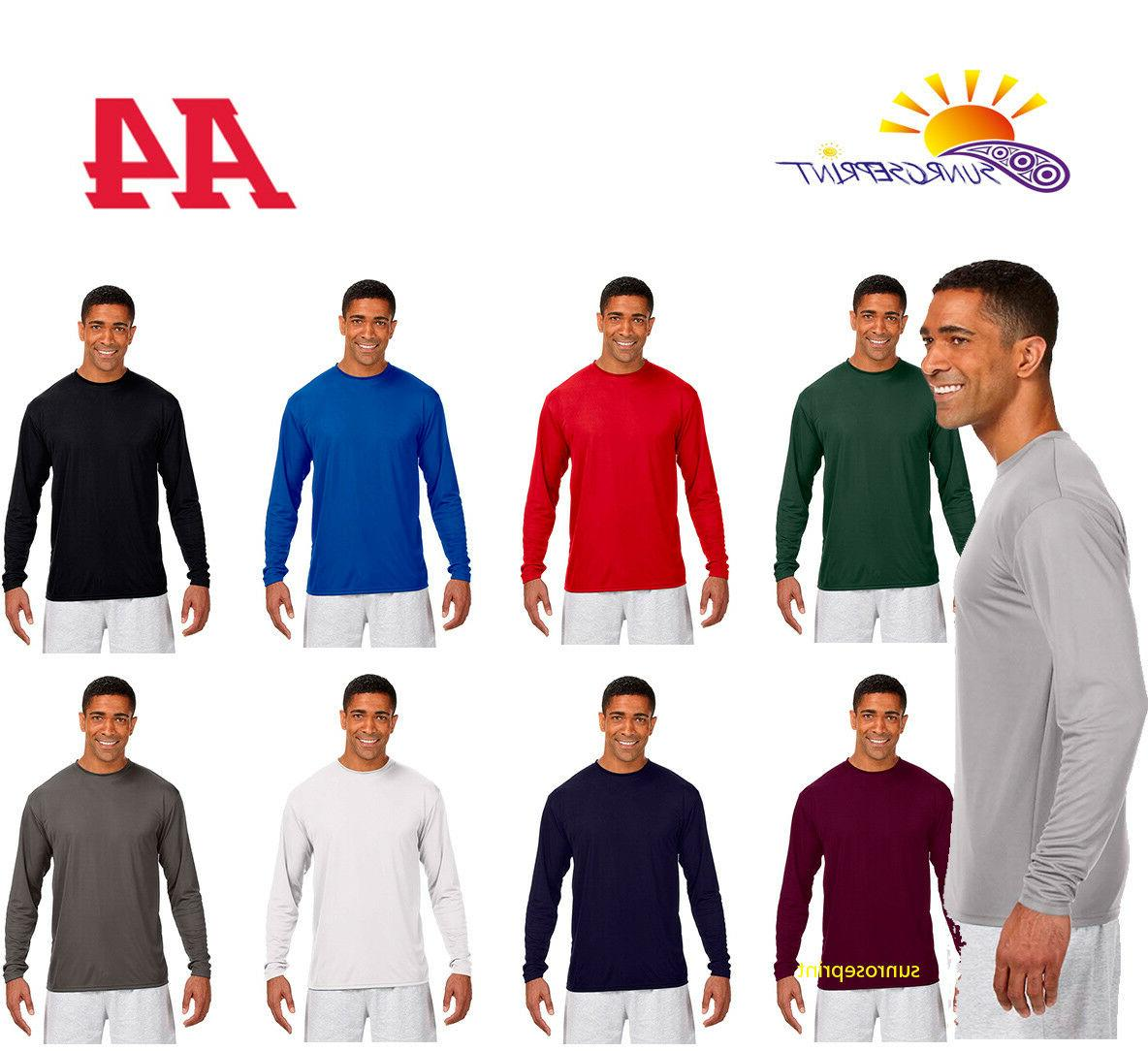 mens long sleeve cooling performance crew neck