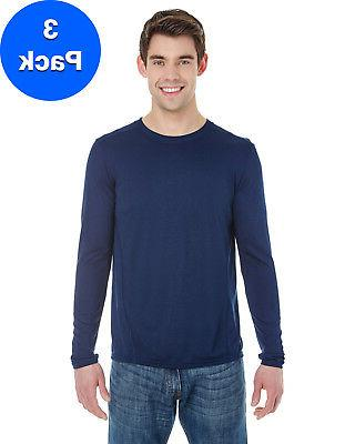 Gildan Mens Tech Long-Sleeve T-Shirt 3 Pack G474 All Sizes