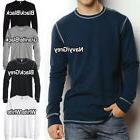 Canvas Mens Thermal T-Shirt Long Sleeve Contrast Stitch Size