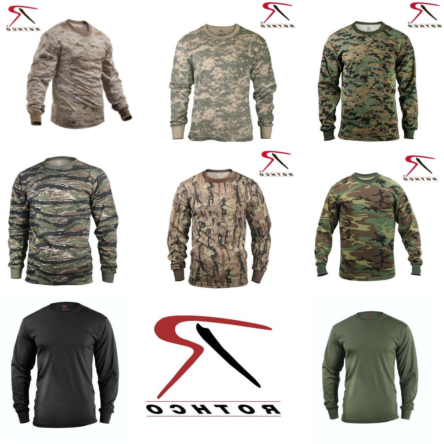 military tactical hunting long sleeve camo t