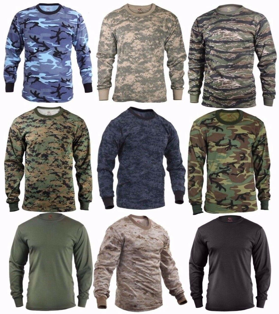 military tactical long sleeve camo t shirts
