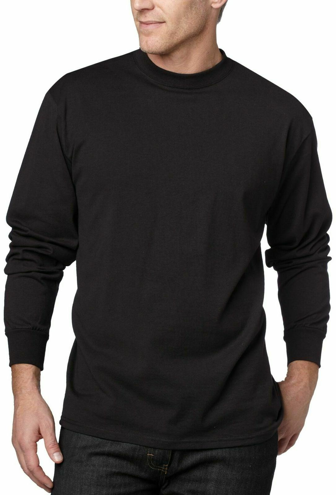 MJ Soffe Men's Long-Sleeve Cotton T-Shirt Black X-Large XL A