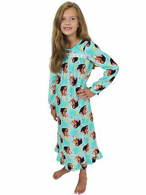 Disney Moana Girls Long Sleeve Flannel Granny Gown Nightgown