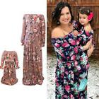 Mommy and Me Family Matching Dress Mother Daughter Floral Ho