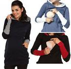 moxeay womens nursing hoodie breastfeeding sweatshirt top