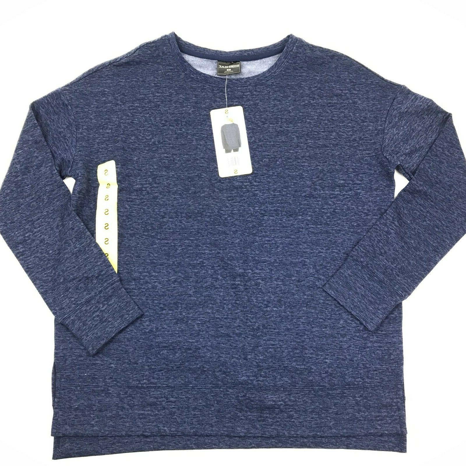 new heat heather blue long sleeve fleece