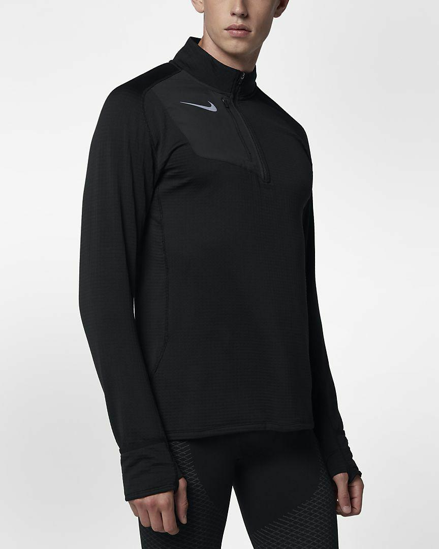 NEW MEN'S NIKE THERMA SPHERE ELEMENT LONG SLEEVE RUNNING HAL