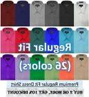 NEW MENS Solid LONG Sleeve Dress Shirt - 26 Colors, Part 2