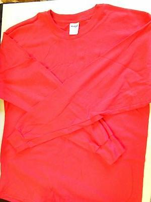 "NOS Gildan Heavy Work Shirt Men's Size Large 42"" Red Pocket"