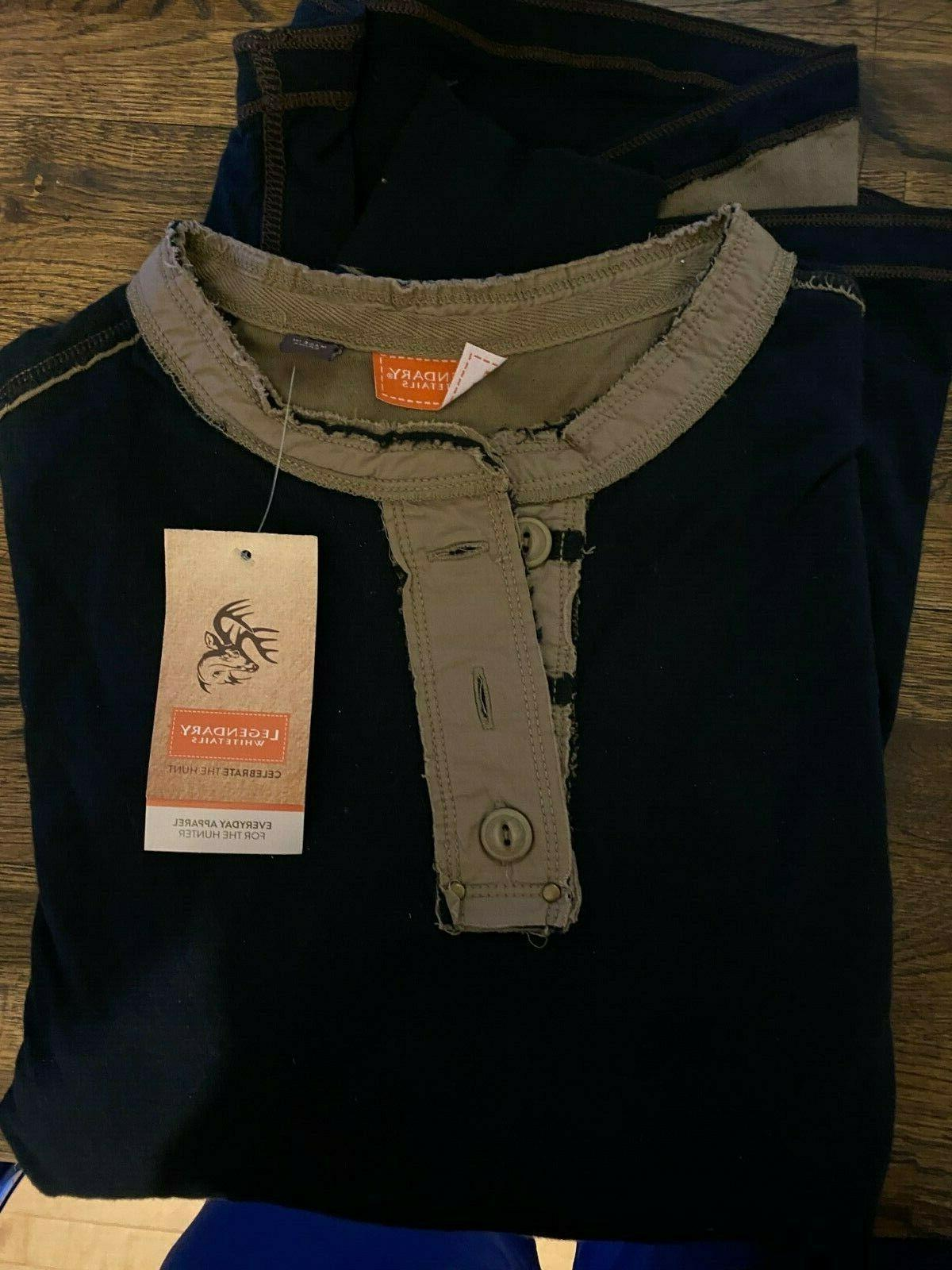 nwt long sleeve henley size small black
