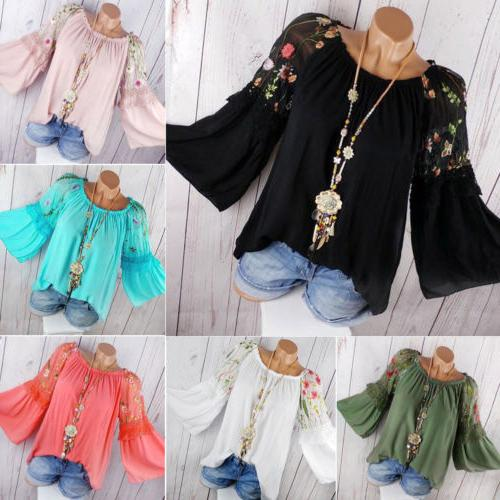 Plus Size Long Sleeve Blouse T Casual