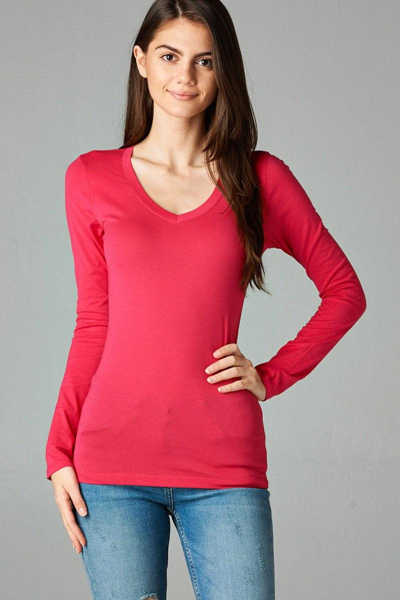 Womens Neck Long Sleeve Active