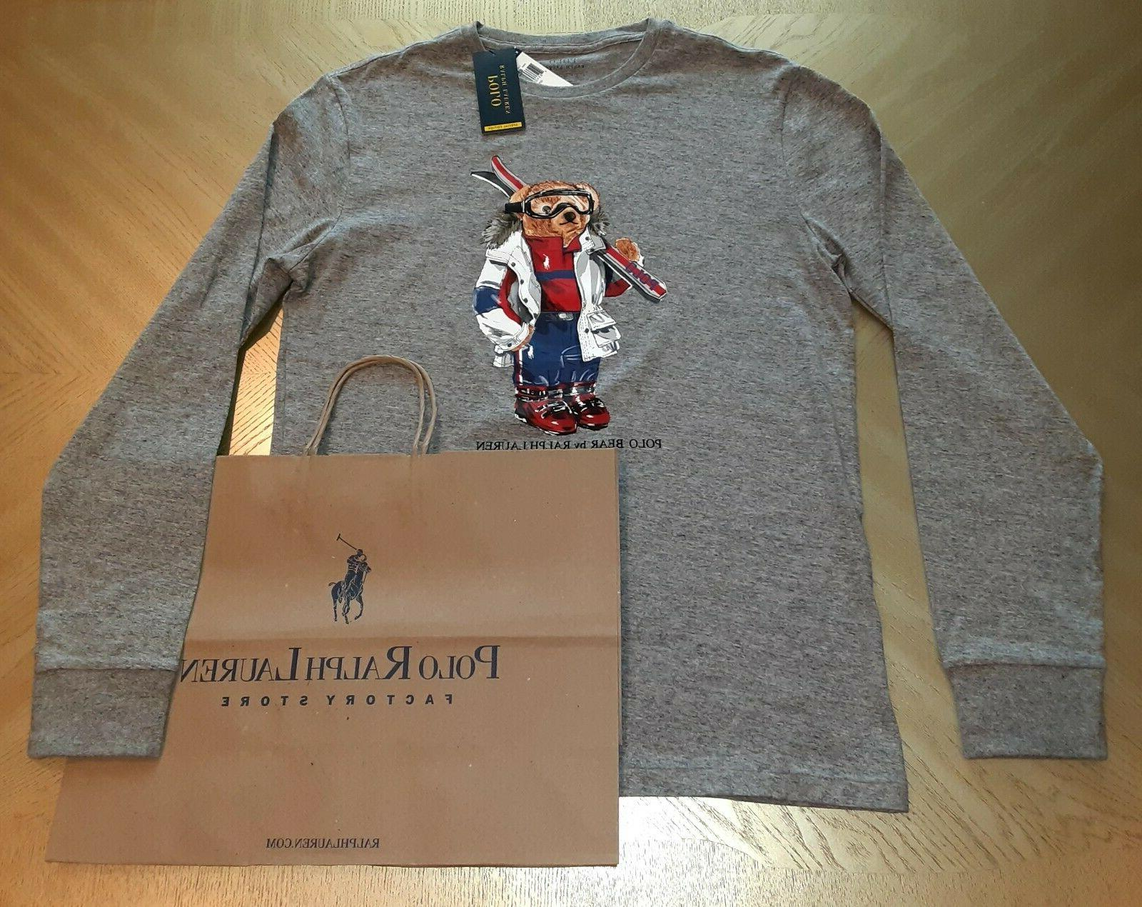 Polo Bear Ralph Lauren T-shirt Long Sleeve Tshirt SPECIAL ED