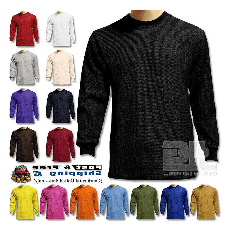 s new men heavy weight plain thermal