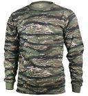 t-shirt camo tiger stripe camouflage long sleeve cotton poly