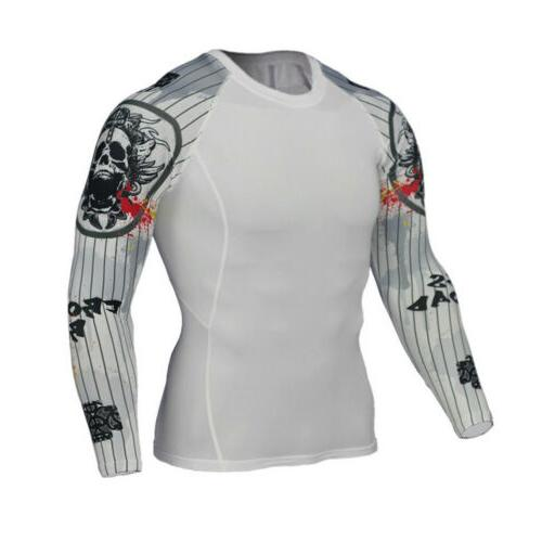 US STOCK Printed Shirt Sport Fitness