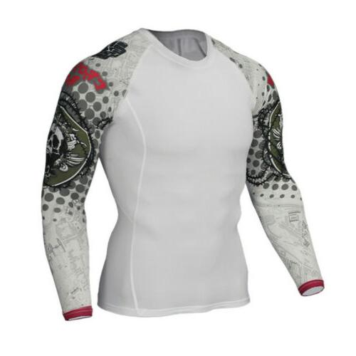 Printed Long T Shirt Gym Fitness