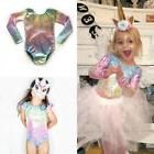 US Toddler Baby Girl Mermaid Shiny Top Romper Jumpsuit Color