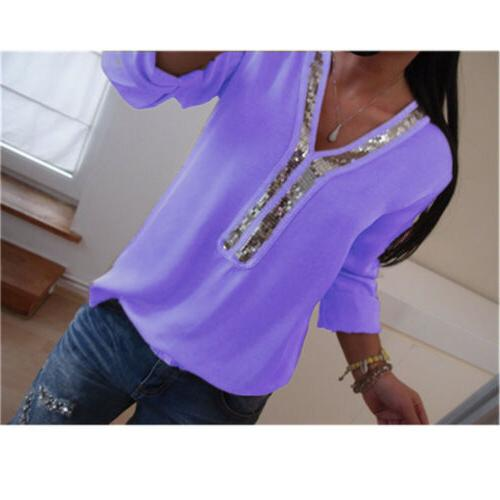 US V Long Tops Casual T-Shirt Plus Size