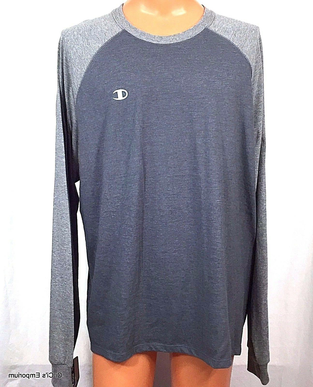 Champion Vapor Raglan T Shirt XXL Gray Granite Heather Long