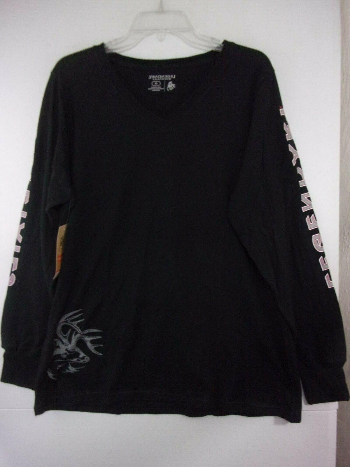 womans 1x black long sleeve v neck