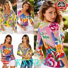 Women Colorful Tops Long Sleeve Round Collar Slim Fitted Blo