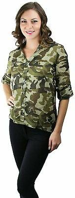ToBeInStyle Up Long Sleeve Down Shirt
