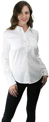 ToBeInStyle Long Sleeve Button-Down Collared