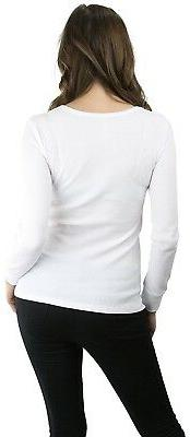 ToBeInStyle Long Sleeve Cotton Blend Crew Thermal