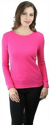 ToBeInStyle Women's Long Sleeve Cotton Blend Crew Neck Therm