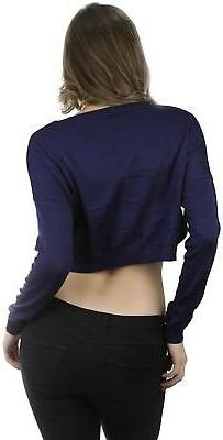 ToBeInStyle Women's Long Cropped Sweater