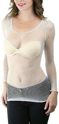 ToBeInStyle Women's Long Spandex Diamond Net