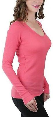 V-Neck Henley Top
