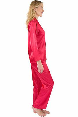 Intimo Women's Satin Pajama Set Sleeve