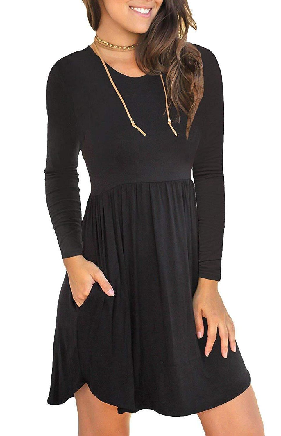 women s sleeveless loose plain dresses casual
