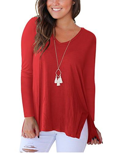 women s solid color blouse long sleeve