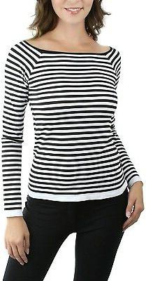 ToBeInStyle Women's Striped Long Sleeve Top