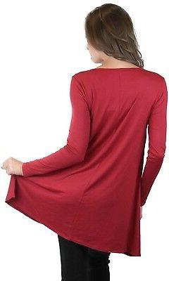 ToBeInStyle V-Neck Long Sleeve Trapeze Top