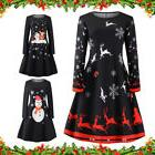 Women Vintage 1950s 60S Xmas Long Sleeve Ladies Christmas Pa