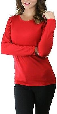 ToBeInStyle Women's Crew Neck Fleece Lined Long Sleeve The