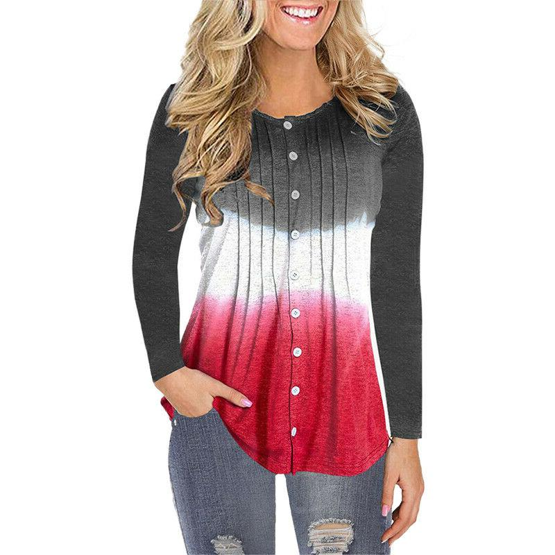 Womens Long Casual Ruched Baggy T Tops