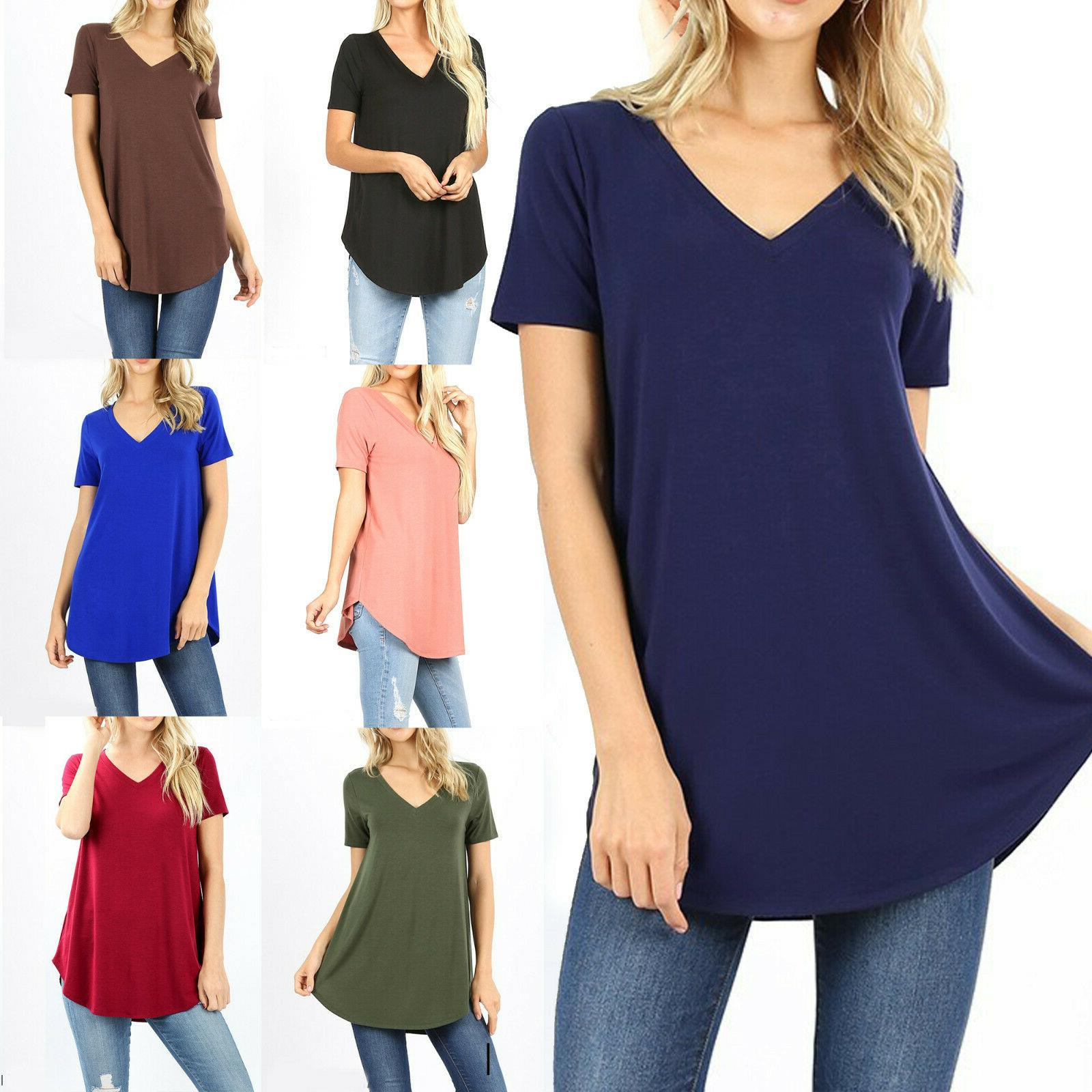 womens loose fit short sleeve t shirt