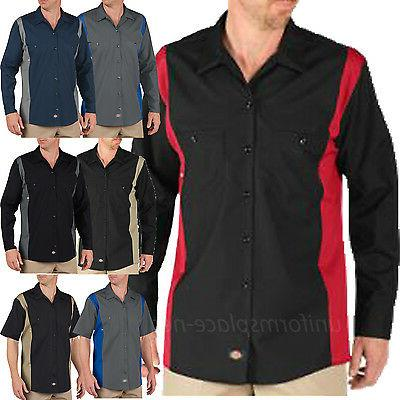 work shirts men two tone industrial color