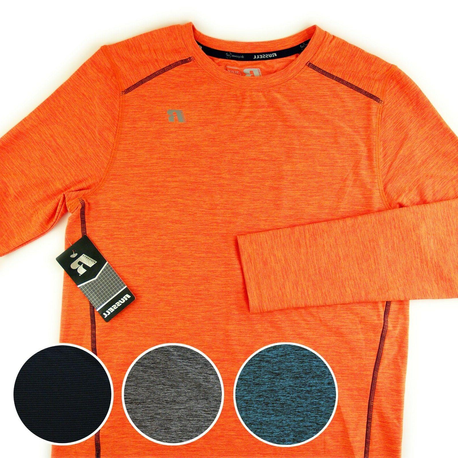 Russell Athletic Youth Boys Active Tops Long Sleeve Tees NWT