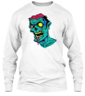 zombie hd design gildan long sleeve tee